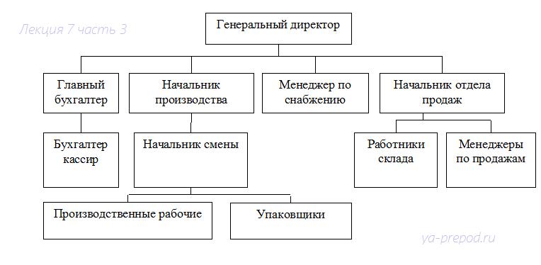 Линейно функциональная организационная структура схема фото 623