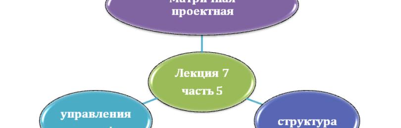 Матричная (проектная) структура управления