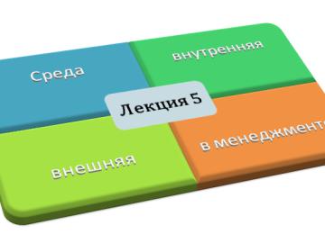 Внутренняя и внешняя среда организации (среда менеджмента)